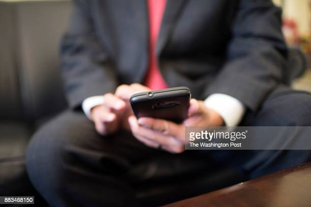 Congressman Ted W Lieu checking his twitter account in his office in Washington DC on March 2017 Congressman Ted W Lieu has become a tireless...