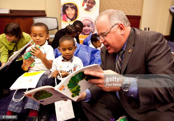 Congressman Tim Walz reads to children at Jump Start's 'Read for the Record' at Capitol Hill on October 8 2009 in Washington DC