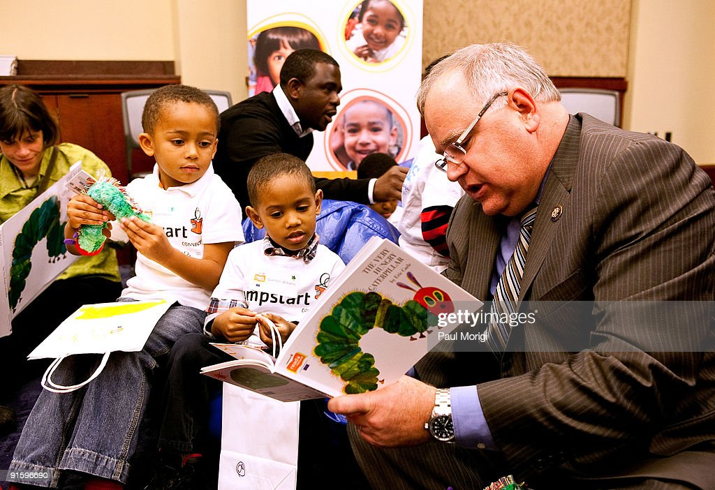 Congressman Tim Walz reads to children at Jumpstart's 'Read for the Record' at Capitol Hill on October 8 2009 in Washington DC