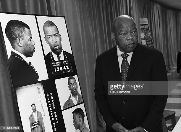 Congressman/Civil Rights Icon John Lewis views for the first time images and his arrest record for leading a nonviolent sitin at Nashville's...