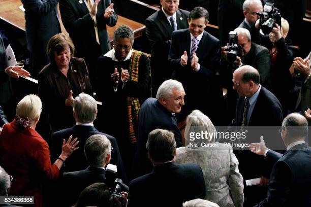 Congressmen applaud Taoiseach Bertie Ahern before his speech at the US House of Congress in Washington
