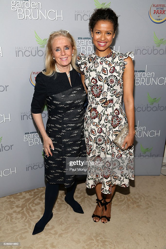 Congresswoman <a gi-track='captionPersonalityLinkClicked' href=/galleries/search?phrase=Debbie+Dingell&family=editorial&specificpeople=3528859 ng-click='$event.stopPropagation()'>Debbie Dingell</a> (L) and actress <a gi-track='captionPersonalityLinkClicked' href=/galleries/search?phrase=Gugu+Mbatha-Raw&family=editorial&specificpeople=5897973 ng-click='$event.stopPropagation()'>Gugu Mbatha-Raw</a> attend the Garden Brunch prior to the 102nd White House Correspondents' Association Dinner at the Beall-Washington House on April 30, 2016 in Washington, DC.