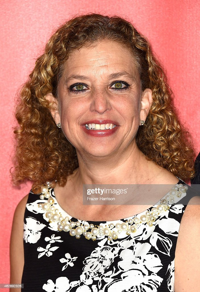 Congresswoman <a gi-track='captionPersonalityLinkClicked' href=/galleries/search?phrase=Debbie+Wasserman+Schultz&family=editorial&specificpeople=2528330 ng-click='$event.stopPropagation()'>Debbie Wasserman Schultz</a> attends the 25th anniversary MusiCares 2015 Person Of The Year Gala honoring Bob Dylan at the Los Angeles Convention Center on February 6, 2015 in Los Angeles, California. The annual benefit raises critical funds for MusiCares' Emergency Financial Assistance and Addiction Recovery programs.