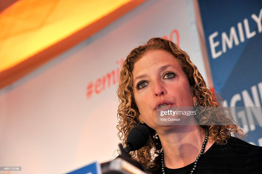Congresswoman <a gi-track='captionPersonalityLinkClicked' href=/galleries/search?phrase=Debbie+Wasserman+Schultz&family=editorial&specificpeople=2528330 ng-click='$event.stopPropagation()'>Debbie Wasserman Schultz</a> speaks at EMILY's List 30th Anniversary Gala at Washington Hilton on March 3, 2015 in Washington, DC.
