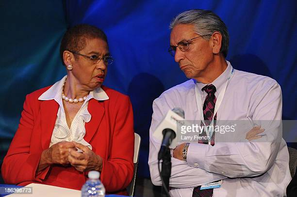 Congresswoman Eleanor Holmes Norton and Kevin Gover participate in 'What's In A NameThe Washington Redskins Controversy A SiriusXM Urban View...