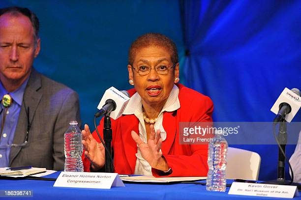 Congresswoman Eleanor Holmes Norton participates in 'What's In A NameThe Washington Redskins Controversy A SiriusXM Urban View Roundtable' hosted by...