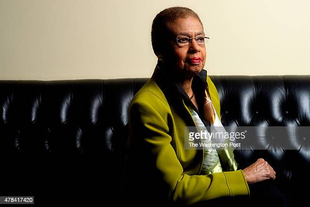 WASHINGTON DC OCTOBER 12 Congresswoman Eleanor Holmes Norton photographed in her office in the Rayburn building in Washington DC on October 12 2012...