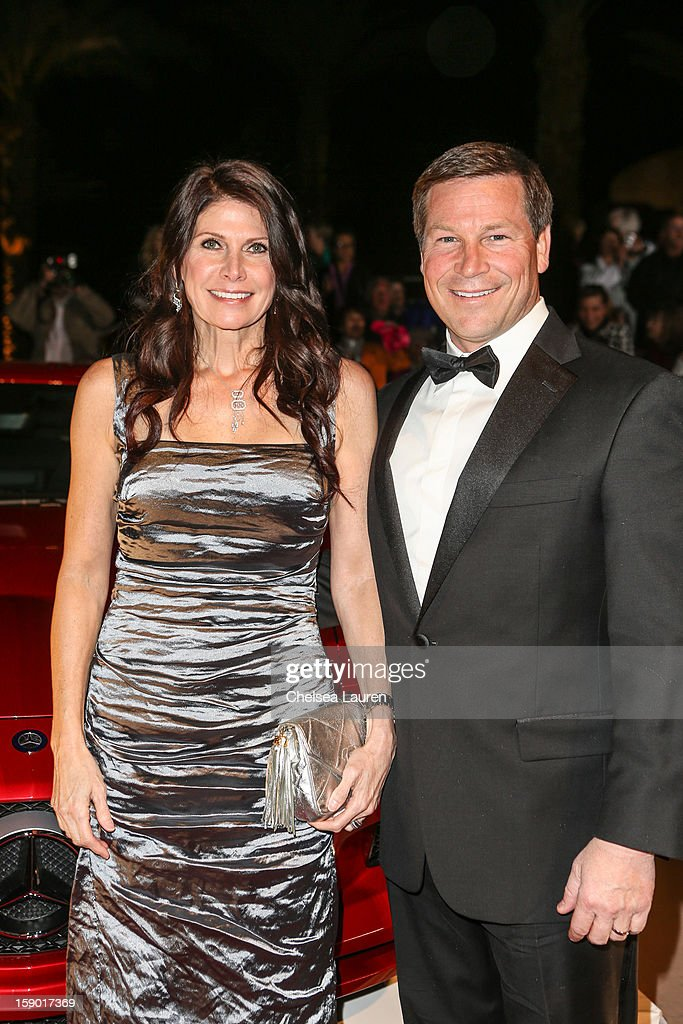 Congresswoman Mary Bono Mack (L) arrives in style with Mercedes-Benz at the Palm Springs International Film Festival at the Palm Springs Convention Center on January 5, 2013 in Palm Springs, California.