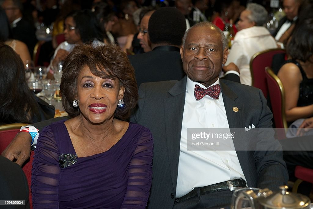 Congresswoman Maxine Water and her husband Sidney Williams attend the Congressional Black Caucus 2013 Inauguration Celebration at Capital Hilton on January 21, 2013 in Washington, United States.