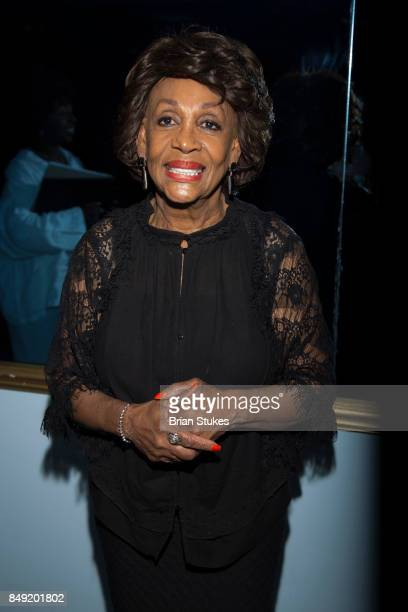 Congresswoman Maxine Waters attends Dick Gregory's Parade Of Life at The Legendary Howard Theatre on September 17 2017 in Washington District of...