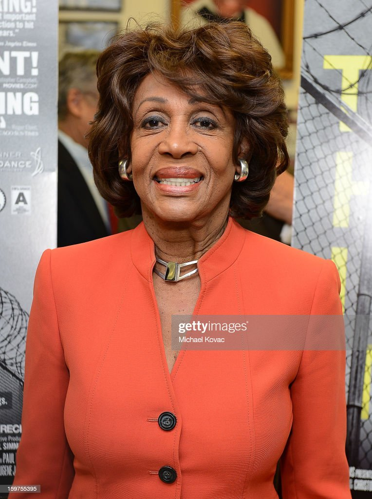 Congresswoman <a gi-track='captionPersonalityLinkClicked' href=/galleries/search?phrase=Maxine+Waters&family=editorial&specificpeople=220525 ng-click='$event.stopPropagation()'>Maxine Waters</a> attends 'The House I Live In' Washington DC screening at Shiloh Baptist Church on January 19, 2013 in Washington, DC.
