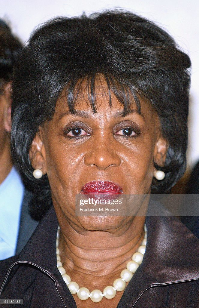 Congresswoman Maxine Waters attends the Seventh Annual Awards Dinner 63rd Birthday Celebration for Reverend Jesse L. Jackson, Sr. at the Beverly Hilton Hotel on October 14, 2004 in Beverly Hills, California. The event was sponsored by the Rainbow/Push and the Citizenship Education Fund.