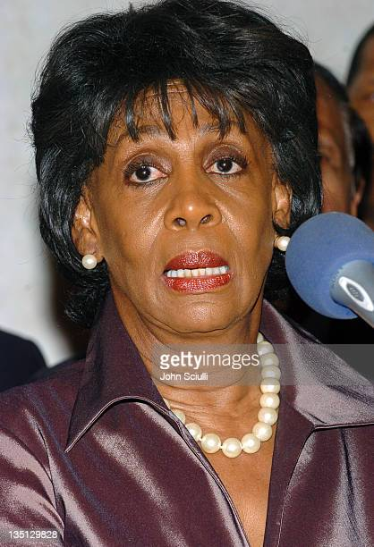 Congresswoman Maxine Waters during Rainbow Push Coalition Dinner to Celebrate Rev Jesse Jackson at Beverly Hilton Hotel in Beverly Hills California...