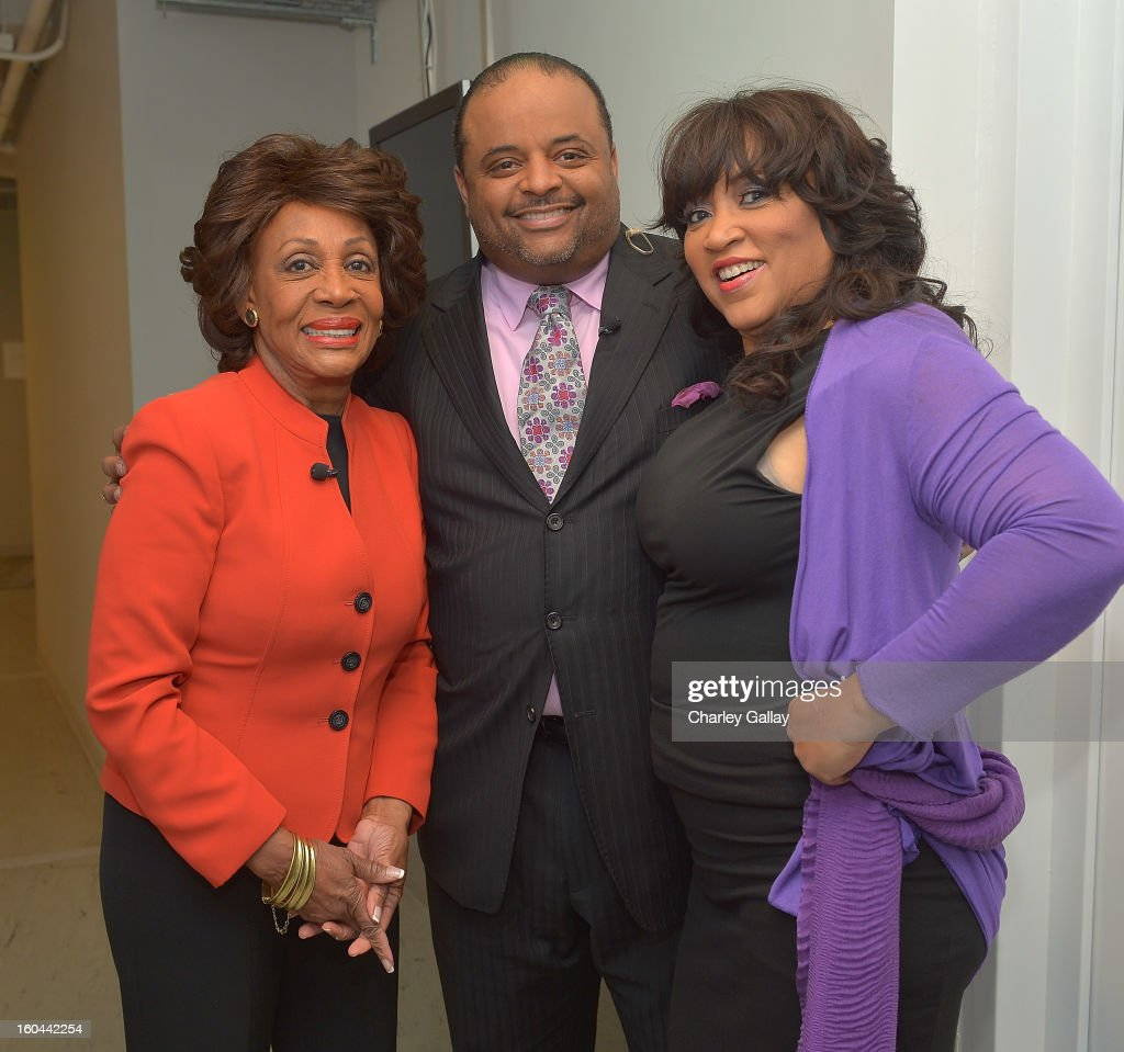 Congresswoman <a gi-track='captionPersonalityLinkClicked' href=/galleries/search?phrase=Maxine+Waters&family=editorial&specificpeople=220525 ng-click='$event.stopPropagation()'>Maxine Waters</a>, host <a gi-track='captionPersonalityLinkClicked' href=/galleries/search?phrase=Roland+Martin&family=editorial&specificpeople=5490103 ng-click='$event.stopPropagation()'>Roland Martin</a> and actress Jackée attend the taping of TV One's 'Washington Watch With <a gi-track='captionPersonalityLinkClicked' href=/galleries/search?phrase=Roland+Martin&family=editorial&specificpeople=5490103 ng-click='$event.stopPropagation()'>Roland Martin</a>' Hollywood Special at KCET Studios on January 31, 2013 in Hollywood, California.