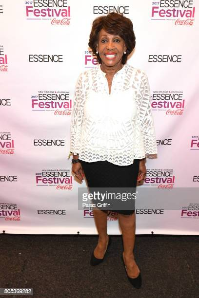 Congresswoman Maxine Waters poses backstage at the 2017 ESSENCE Festival presented by CocaCola at Ernest N Morial Convention Center on July 1 2017 in...