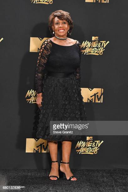 Congresswoman Maxine Waters poses in the press room at the 2017 MTV Movie and TV Awards at The Shrine Auditorium on May 7 2017 in Los Angeles...
