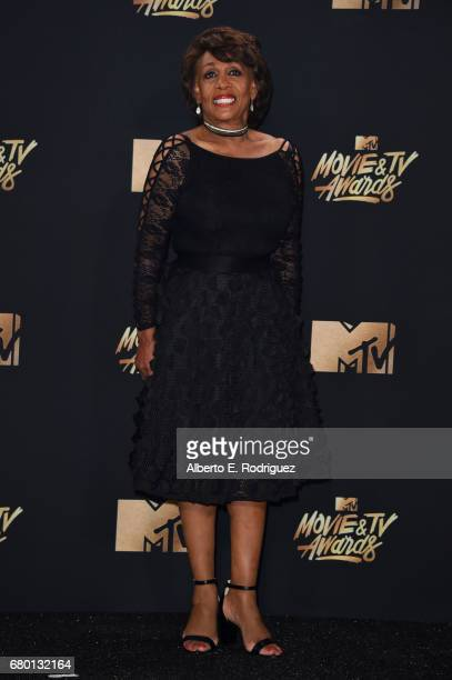 Congresswoman Maxine Waters poses in the press room during the 2017 MTV Movie And TV Awards at The Shrine Auditorium on May 7 2017 in Los Angeles...