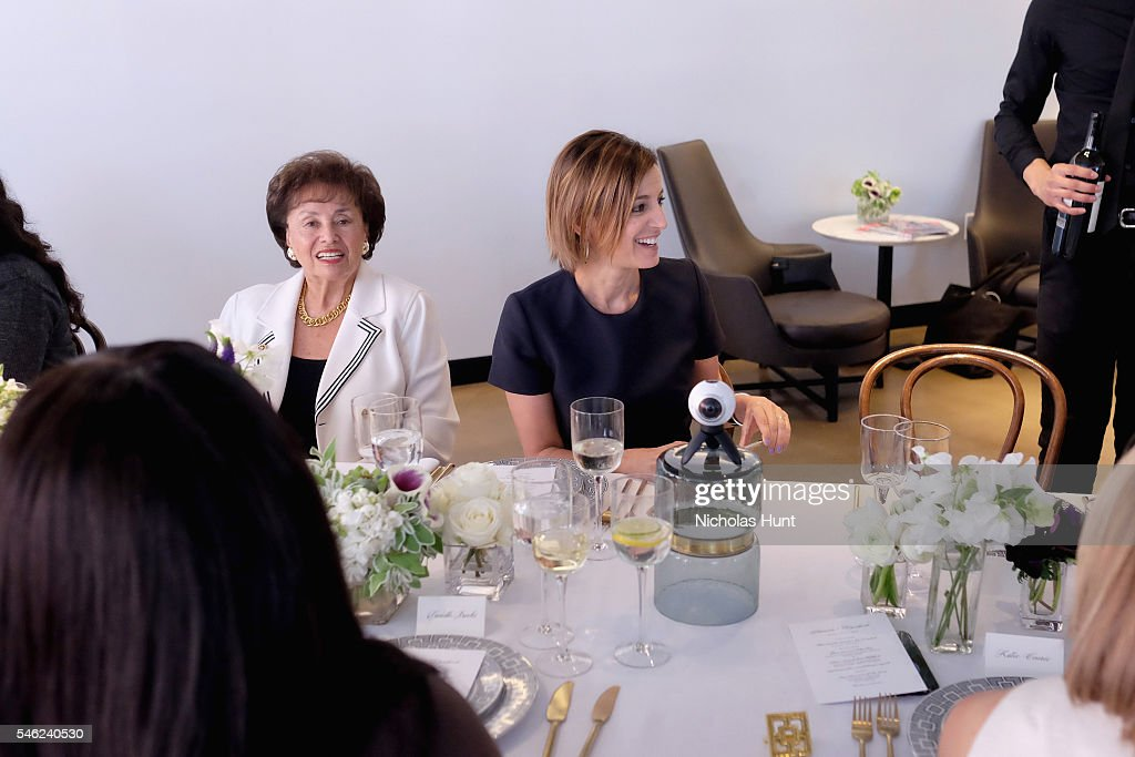 Congresswoman Nita Lowey and Glamour editor in chief Cindi Leive attend a luncheon hosted by Glamour and Facebook to discuss the 2016 election at...