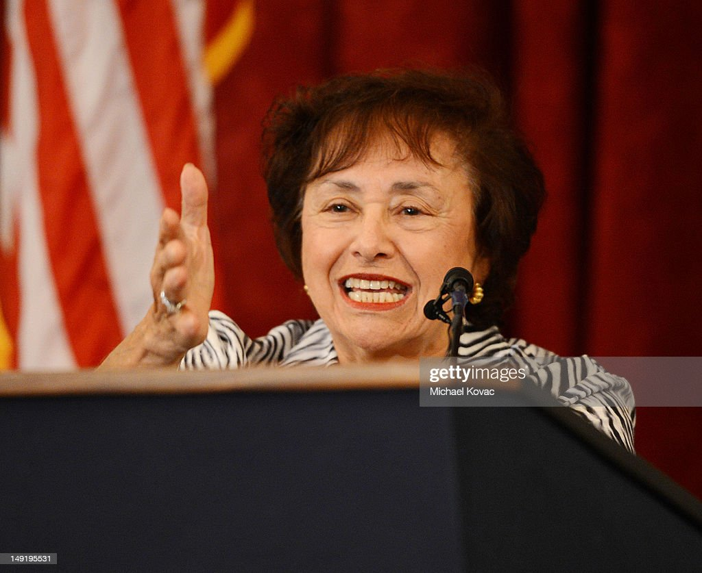 S Congresswoman Nita Lowey speaks at The Elton John AIDS Foundation and UNAIDS breakfast at the Russell Senate Office Building on July 24 2012 in...