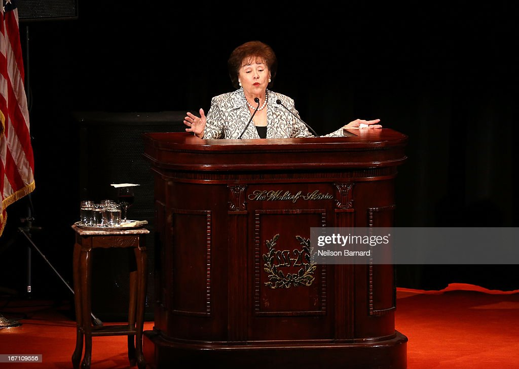 Congresswoman <a gi-track='captionPersonalityLinkClicked' href=/galleries/search?phrase=Nita+Lowey&family=editorial&specificpeople=878051 ng-click='$event.stopPropagation()'>Nita Lowey</a> speaks onstage as The Bronx High School of Science Celebrates 75 Years with Gala at The Waldorf=Astoria on April 20, 2013 in New York City.