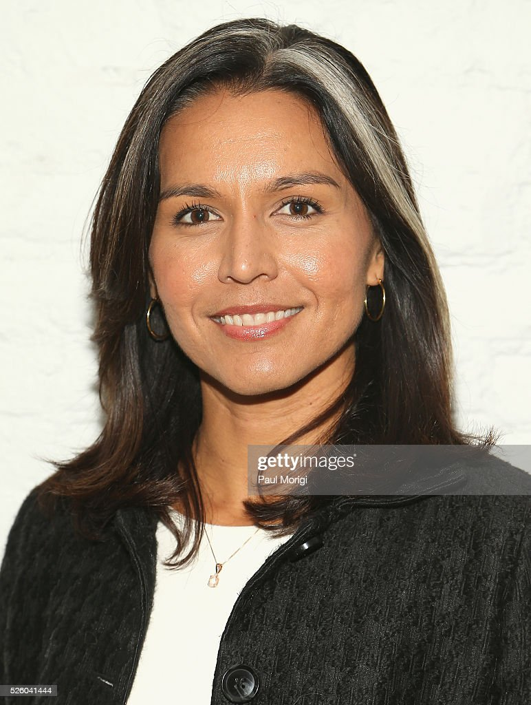 Congresswoman <a gi-track='captionPersonalityLinkClicked' href=/galleries/search?phrase=Tulsi+Gabbard&family=editorial&specificpeople=8834801 ng-click='$event.stopPropagation()'>Tulsi Gabbard</a> attends the Glamour and Facebook brunch to discuss sexism in 2016, during WHCD Weekend at Kinship on April 29, 2016 in Washington, DC.