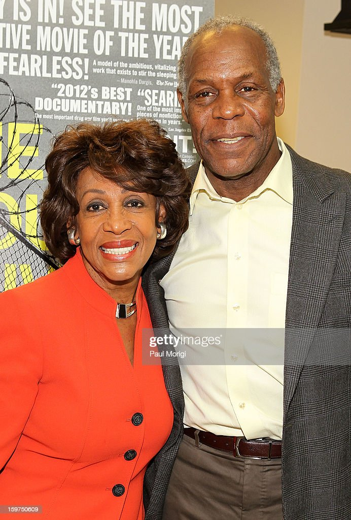 Congresswomen Maxine Waters and actor Danny Glover attend 'The House I Live In' Washington DC Screening And Performance By John Legend at Shiloh Baptist Church on January 19, 2013 in Washington, DC.