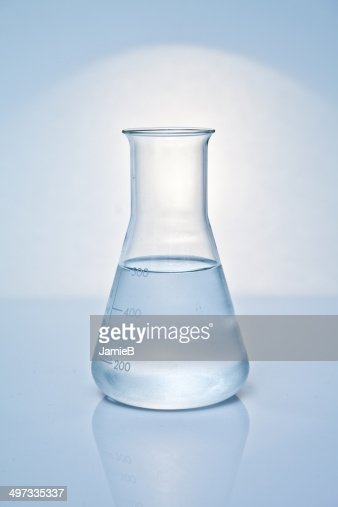 Conical Flask with liquid