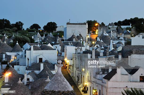 Conical rooftops of trulli buildings, Alberobello