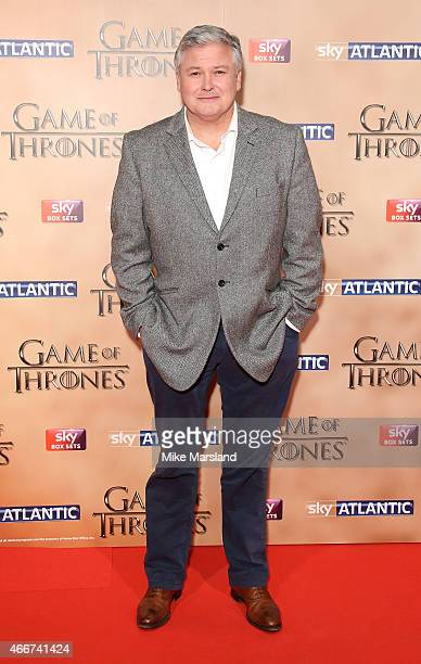 Conleth Hill attends the World premiere of Game of Thrones Season 5 at the Tower of London on March 18 2015 in London England
