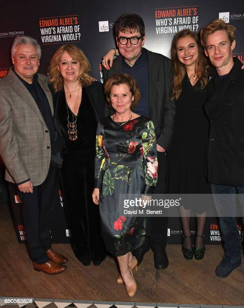 Conleth Hill Sonia Friedman Imelda Staunton James Macdonald Imogen Poots and Luke Treadaway attend the press night after party for 'Who's Afraid Of...