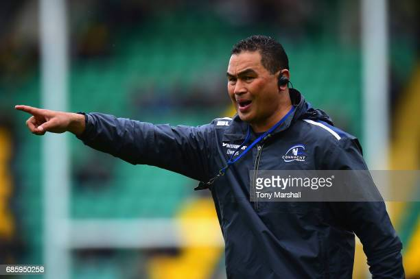 Connacht Director of Rugby Pat Lam during Champions Cup Playoff match between Northampton Saints and Connacht at Franklin's Gardens on May 20 2017 in...