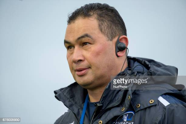 Connacht Head Coach Pat Lam during the Guinness PRO12 rugby match between Connacht Rugby and Scarlets at the Sportsground in Galway Ireland on April...