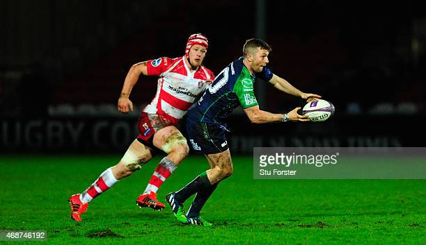 Connacht player Jack Carty in action during the European Rugby Challenge Cup Quarter Final match between Gloucester Rugby and Connacht Rugby at...