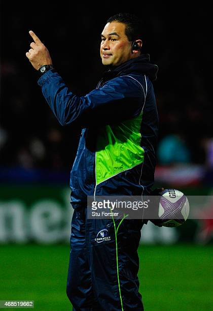 Connacht Rugby coach Pat Lam looks on before the European Rugby Challenge Cup Quarter Final match between Gloucester Rugby and Connacht Rugby at...