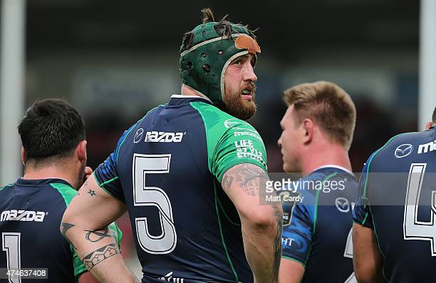 Connacht's Aly Muldowney during the Gloucester Rugby v Connacht Rugby European Champions Cup PlayOff at Kingsholm Stadium on May 24 2015 in...