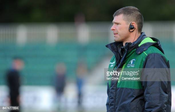 Connacht's Head Coach Kieran Keane during the pre match warm up during the Guinness Pro14 Round 3 match between Dragons and Connacht at Rodney Parade...