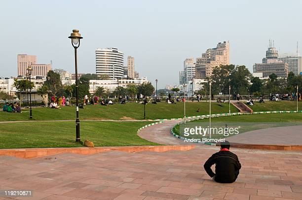 Connaught Place park in central New Delhi