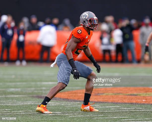 Connecticut Safety Obi Melifonwu of the North Team during the 2017 Resse's Senior Bowl at LaddPeebles Stadium on January 28 2017 in Mobile Alabama...