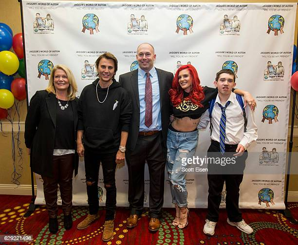 Connecticut Senator Heather Summers from left Jonathan Cheban Dennis Vanasse author cofounder and vice president of The Foundation for Autism...