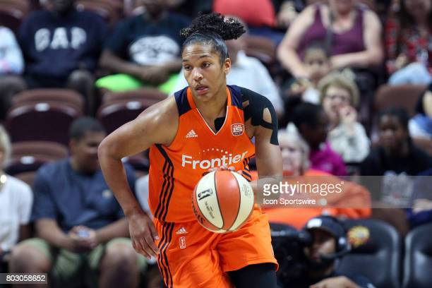 Connecticut Sun forward Alyssa Thomas fast breaks during the second half of an WNBA game between Los Angeles Sparks and Connecticut Sun on June 27 at...