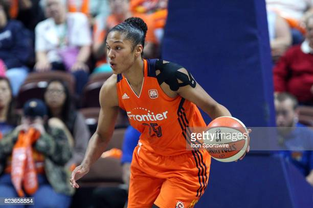Connecticut Sun forward Alyssa Thomas fast breaks during the second half of an WNBA game between Chicago Sky and Connecticut Sun on July 25 at...