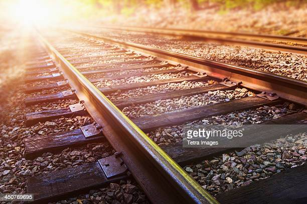 USA, Connecticut, Train tracks