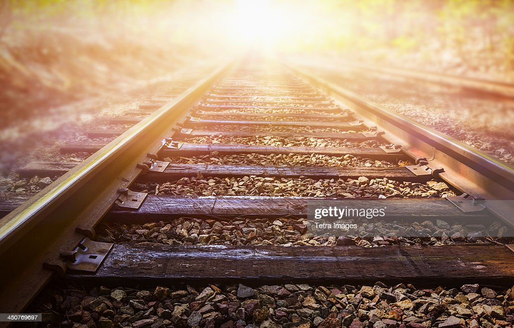 USA, Connecticut, Train tracks
