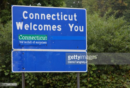 Connecticut Welcome Sign