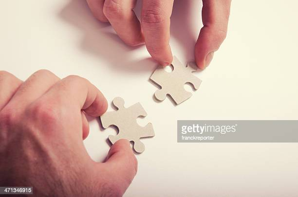 Connecting the pice for teamwork - puzzle connection