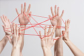 Connection, Team, Teamwork, Relationship, Hands, Cats Cradle