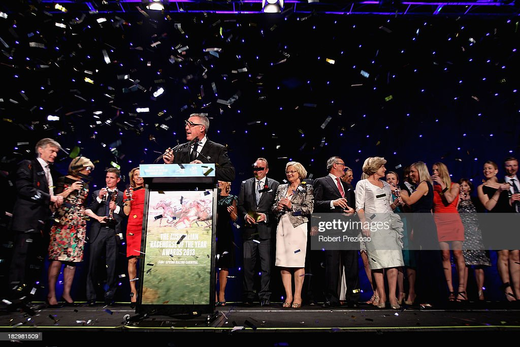 Connections of Black Caviar receive the award for Australian Racehorse of the year during the Australian Racehorse of the Year Awards at Peninsula on October 3, 2013 in Melbourne, Australia.