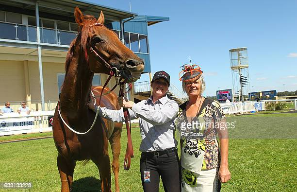 Connections of Boogie Woogie Man after winning Hygain TOV Sprint Series Heat 7at SportsbetBallarat Racecourse on January 31 2017 in Ballarat Australia