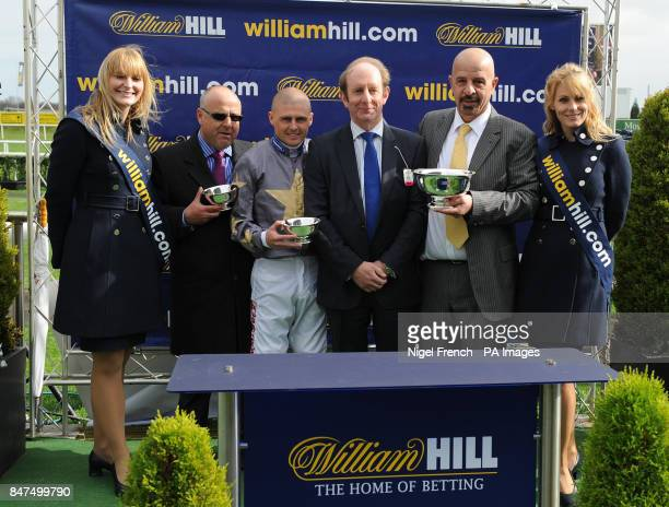 Connections of Brae Hill Winner of The William Hill Lincoln including trainer Richard Fahey Jockey Tony Hamilton and owner Dr Marwan Koukash during...
