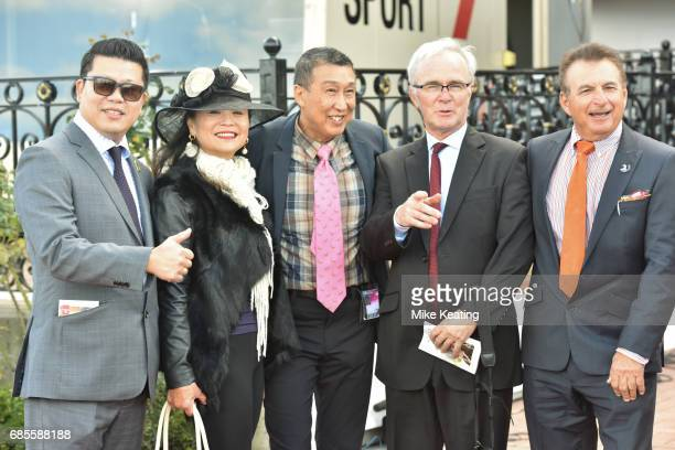 Connections of Guangzhou after winning the Winx Hall of Fame Trophy at Flemington Racecourse on May 20 2017 in Flemington Australia